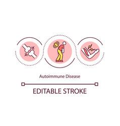 Autoimmune disease concept icon vector