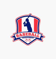 Baseball logo badge-8 vector