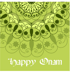 Beautiful onam festival abstract mandala designs vector