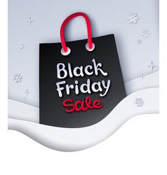 black friday sale shopping bag vector image