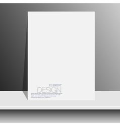 blank white magazines on white shelf with soft vector image