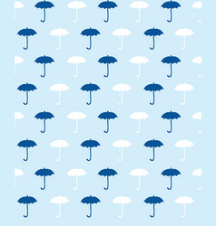 blue pattern with umbrella vector image