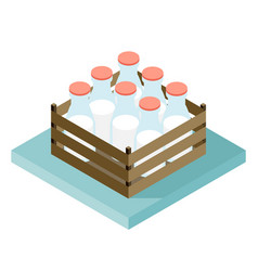 Bottle of milk image set vector
