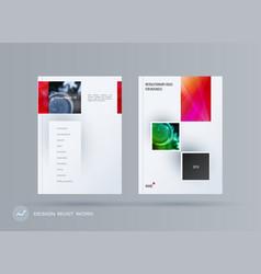 Brochure design rectangular template colourful vector