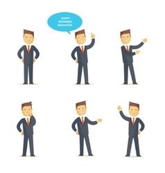 Businessman manager set vector image