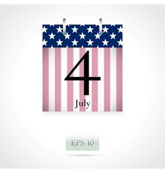 Calendar page for July 4th vector image