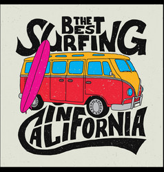 California best surfer poster vector