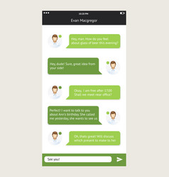 Chat frames message boxes for your text vector