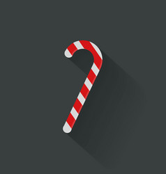 Christmas candy cane flat icon vector