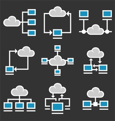 Cloud Computing Icons Set vector image vector image