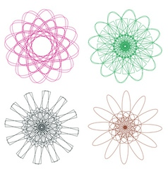 Colorful Spirographs3 vector
