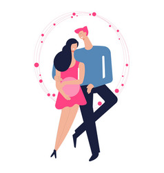 Couple in love romantic feelings of man and woman vector