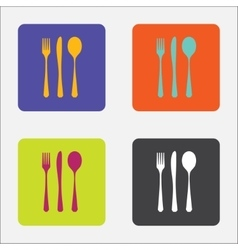 Cutlery icons set vector