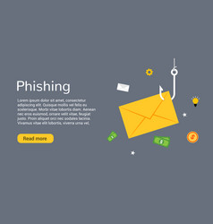 data phishing hacking online scam envelope vector image