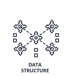 data structure line icon concept data structure vector image