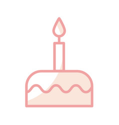 delicious birthday cake icon vector image