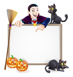 dracula halloween sign vector image