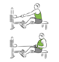 exercise gymnastic for press man in gym vector image