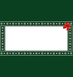 festive rectangle template for christmas with red vector image
