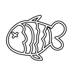Fish nutritive food isolated icon vector