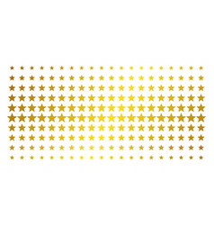 five pointed star golden halftone effect vector image