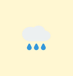 flat icon rain element of vector image