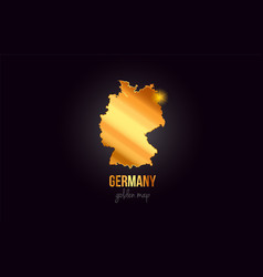 germany country border map in gold golden metal vector image