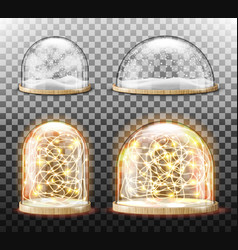 glass dome with snow realistic vector image