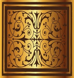 Golden Floral Luxury Ornamental Pattern Background vector image