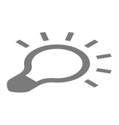 grey bulb icon isometric style vector image