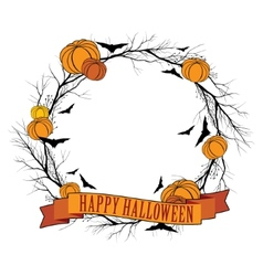 Halloween wreath 1 vector image