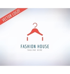 Hanger logo icon Style Fashion or Shop vector image