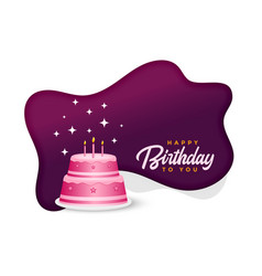 Happy birthday cake celebration background design vector