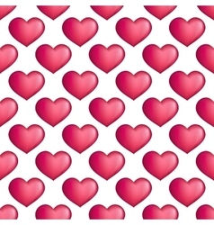 hearts seamless pattern Love simple vector image