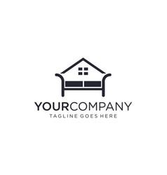 Home interior for logo design editable vector