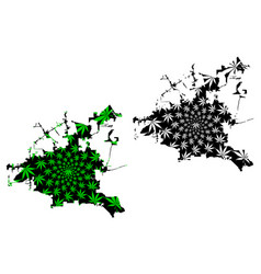 Houston city - map is designed cannabis leaf vector