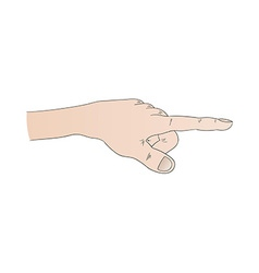 Human hand with pointing finger vector