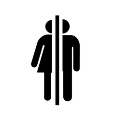 icon male and female toilet vector image