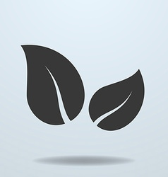 Icon of leaf Two leaves simple symbol vector image