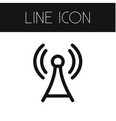 isolated network outline antenna element vector image