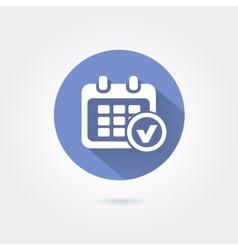 Marks calendar icon on white background vector