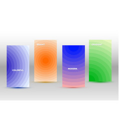 modern colorful templates with various gradients vector image