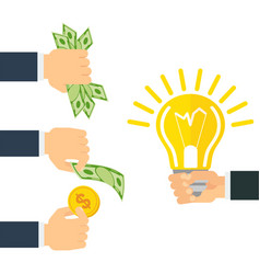 Money for idea vector