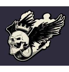 motor skull logo vector image