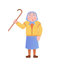 Old woman saying something vector