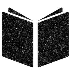 Open Book Grainy Texture Icon vector