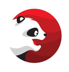 Panda logo in flat style vector