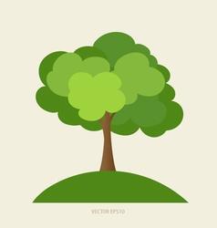 Paper green tree vector image
