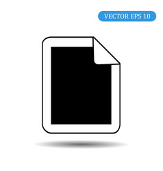 paper icon eps 10 vector image