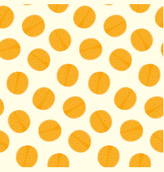 pattern with mexican tortilla chips or pita vector image